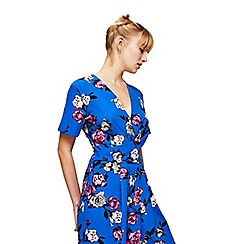 Miss Selfridge - Blue floral twist jumpsuit