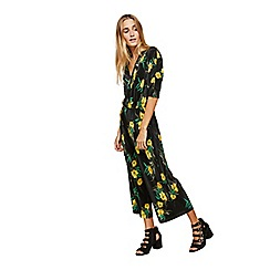 Miss Selfridge - Floral plisse jumpsuit