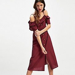 Miss Selfridge - Linen midi dress