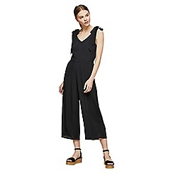 Miss Selfridge - Black tie shoulder jumpsuit
