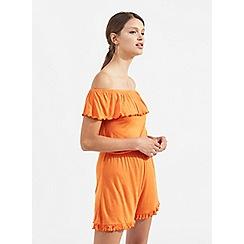 Miss Selfridge - Orange bardot playsuit