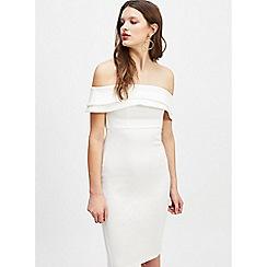 Miss Selfridge - Ivory scuba Bardot dress