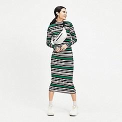 Miss Selfridge - Multi colour bold stripe rib midi dress