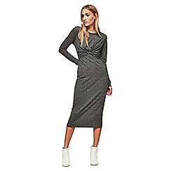 Miss Selfridge - Long sleeves twist midi dress