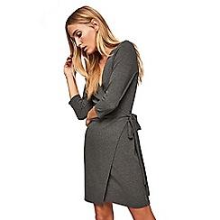 Miss Selfridge - Rib wrap mini dress