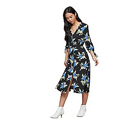 Miss Selfridge - Dark floral midi dress