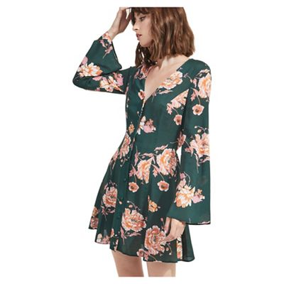 79b7b1410f Miss Selfridge - Button through floral print skater dress