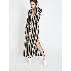 Miss Selfridge - Striped button maxi dress