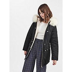 Miss Selfridge - Reversible parka puffer coat