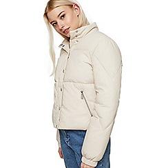 Miss Selfridge - Plain funnel neck puffer jacket