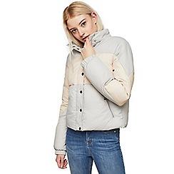 Miss Selfridge - Bloack funnel neck puffer jacket