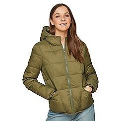 Miss Selfridge - Khaki lightweight puffer jacket