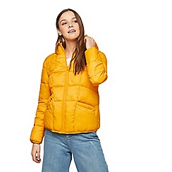 Miss Selfridge - Ochre lightweight puffer jacket
