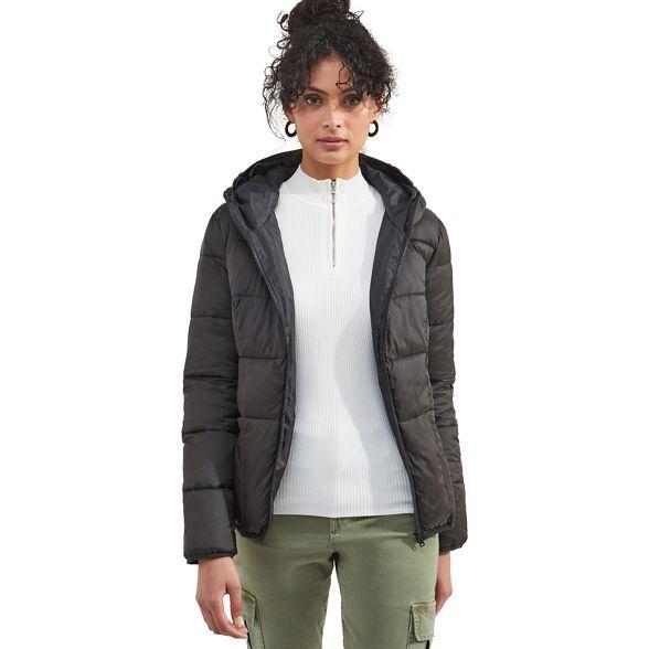 Miss fur coat faux puffer Selfridge trim Black 7rwTq1xt7