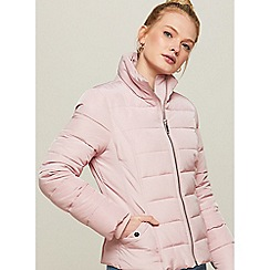Miss Selfridge - Pink puffer jacket