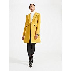 Miss Selfridge - Yellow smart duster coat