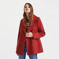 Miss Selfridge - Tan military coat