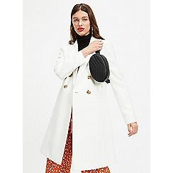 Miss Selfridge - White crombie coat