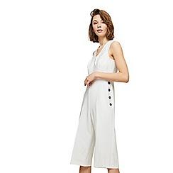 Miss Selfridge - Petite wrap button jumpsuit