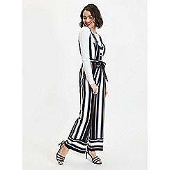 Miss Selfridge - Petite Multi Stripe Jumpsuit