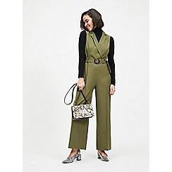 Miss Selfridge - Petite Khaki Utility Jumpsuit