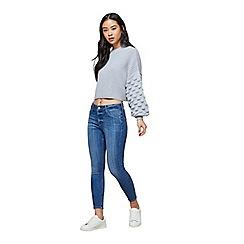 Miss Selfridge - Petites blue Sofia jeans