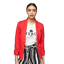 Miss Selfridge - Petite red ponte blazer