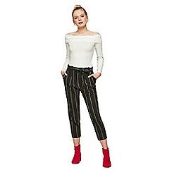 Miss Selfridge - Petite stripe paperbag trousers