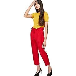 Miss Selfridge - Petite red paperbag trousers