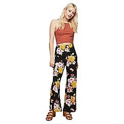 Miss Selfridge - Petite floral wide leg trousers