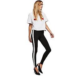 Miss Selfridge - Black side striped leggings