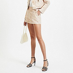 Miss Selfridge - Pink Jacquard Occasion Shorts