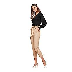 Miss Selfridge - Camel paper bag trousers
