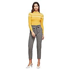 Miss Selfridge - Grey check paperbag trousers