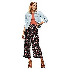 Miss Selfridge - Tassel wide crop trousers