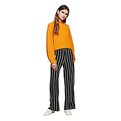 Miss Selfridge - Burgundy stripe trousers