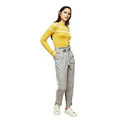 Miss Selfridge - Grey side stripe trousers