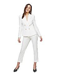 Miss Selfridge - Ivory split cigarette trousers