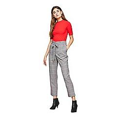 Miss Selfridge - Check paper bag trousers