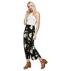 Miss Selfridge - Floral plisse trousers