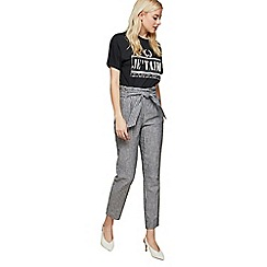 Miss Selfridge - Casual striped paperbag trousers