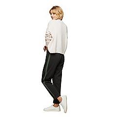Miss Selfridge - Green side stripe joggers