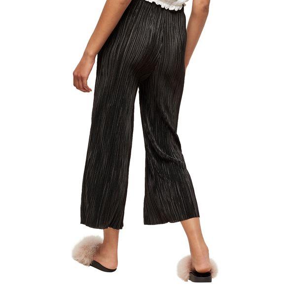 cropped Selfridge trousers Black plisse Miss wZ6qBCx6