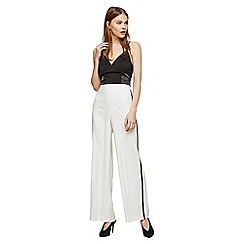 Miss Selfridge - Ivory side striped trousers