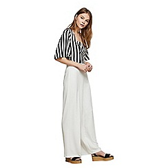 Miss Selfridge - Ivory wide leg trousers
