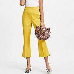 Miss Selfridge - Yellow ankle kick flare trousers