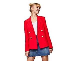 Miss Selfridge - Red military blazer