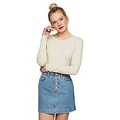 Miss Selfridge - Mid button denim skirt