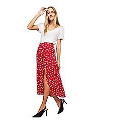 Miss Selfridge - Floral button side midi skirt