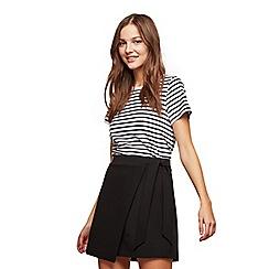 Miss Selfridge - Black tie mini skirt